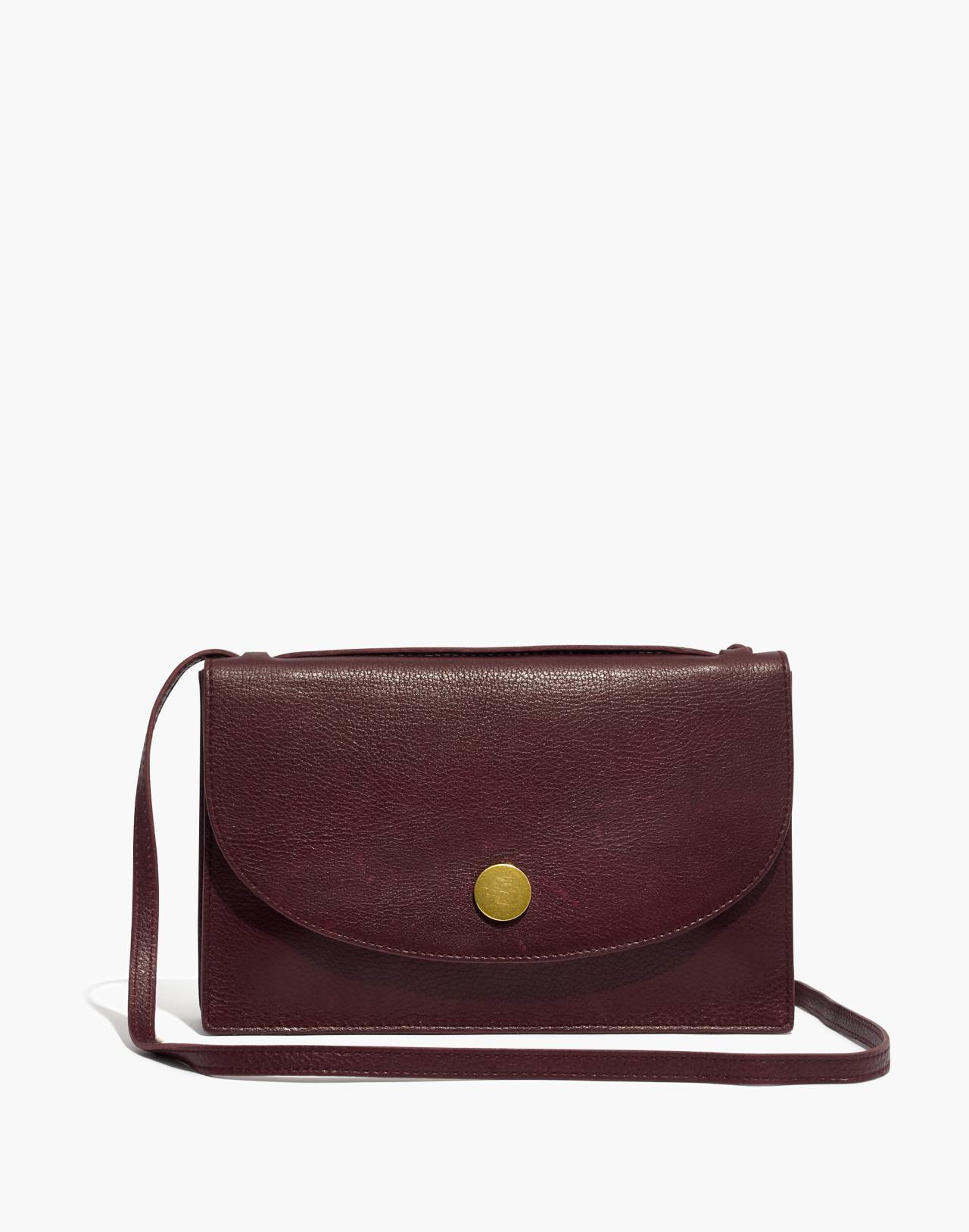 The Slim Convertible Bag in dark cabernet image 1