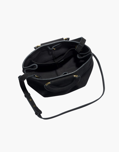 The Top-Handle Mini Bag in true black image 3