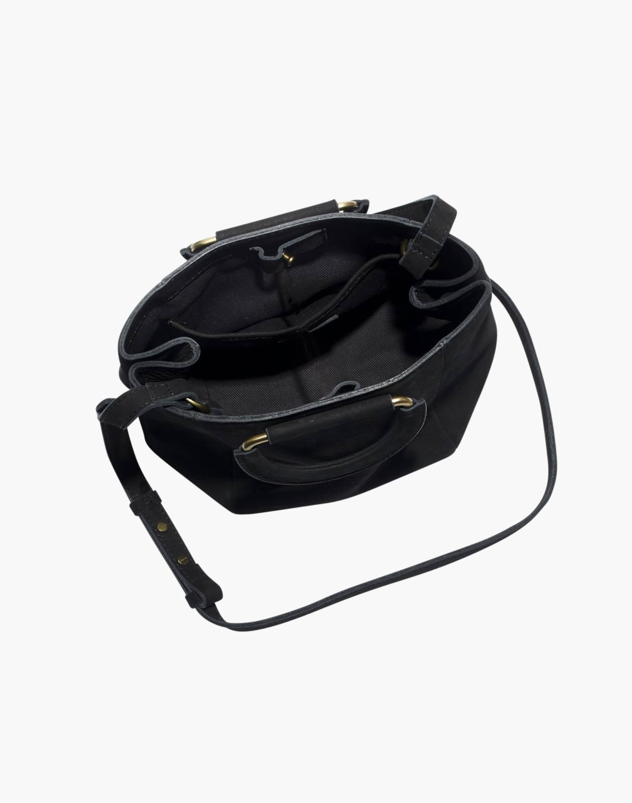 The Top-Handle Mini Bag in true black image 3