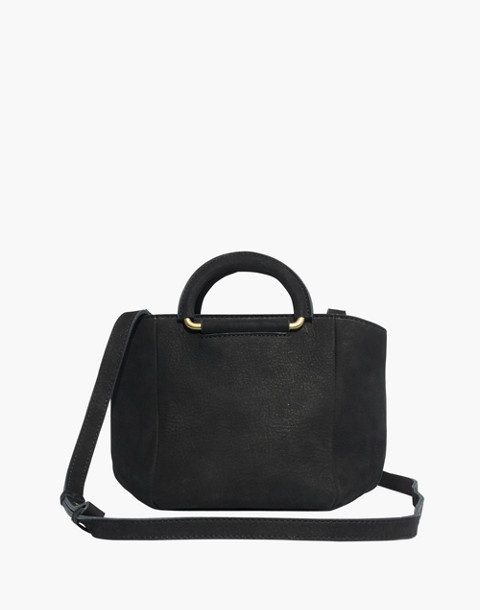 The Top-Handle Mini Bag in true black image 1