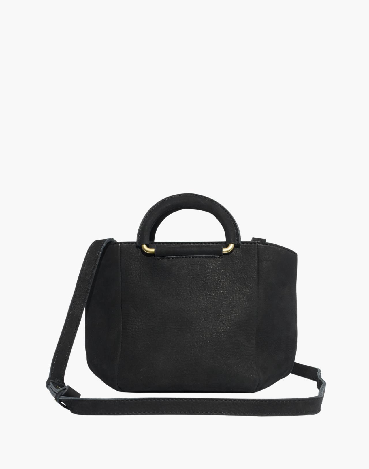 The Top-Handle Mini Bag in true black image 1