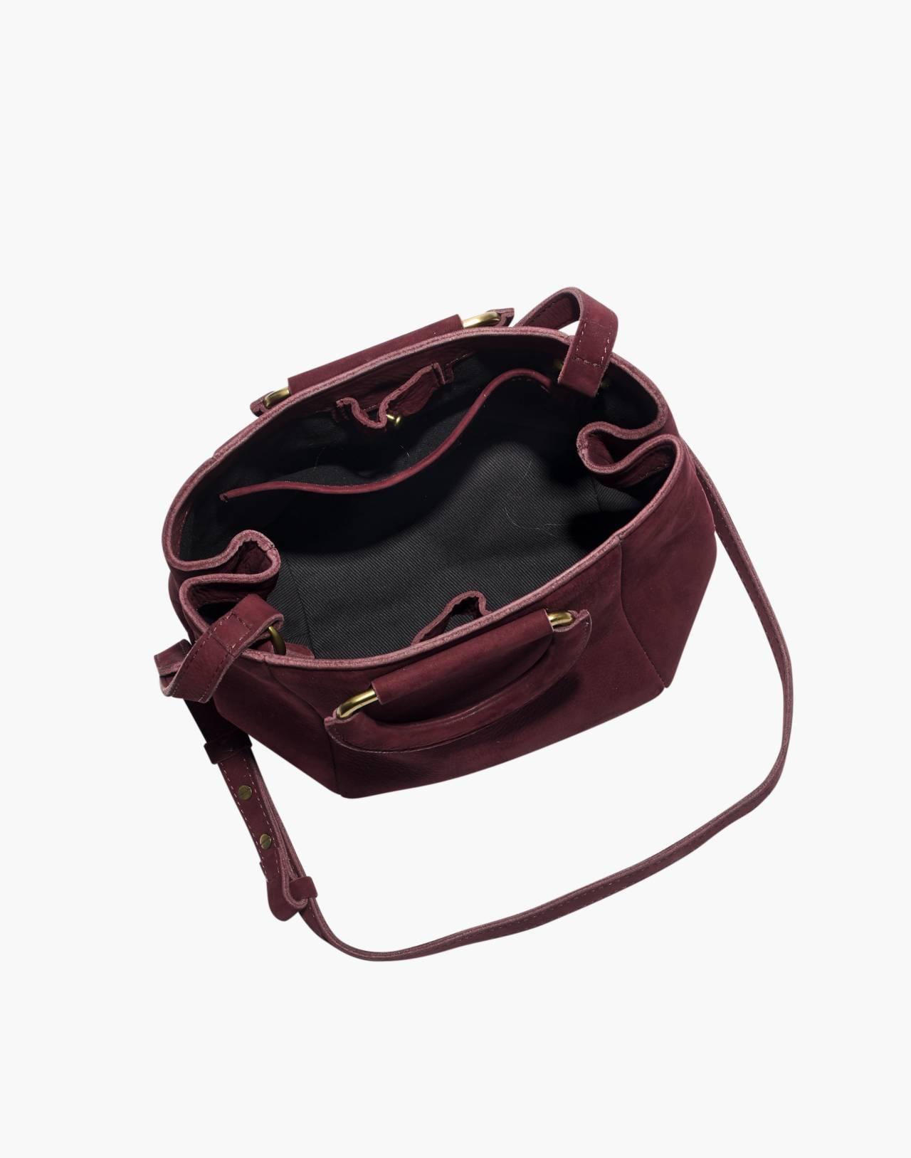 The Top-Handle Mini Bag in dark cabernet image 2