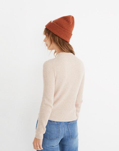 Mockneck Pullover Sweater in donegal oyster image 2