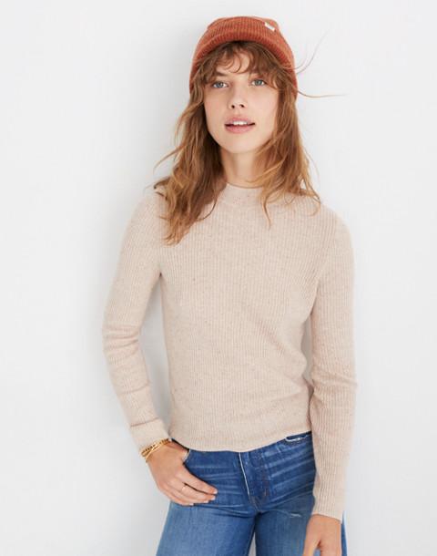 Mockneck Pullover Sweater in donegal oyster image 3