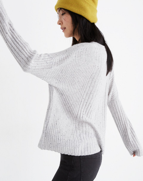 Relaxed Crewneck Sweater in donegal cloud image 2