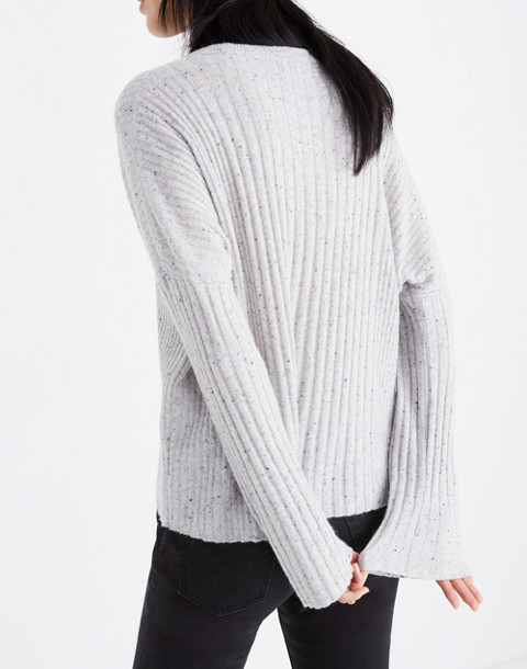 Relaxed Crewneck Sweater in donegal cloud image 3