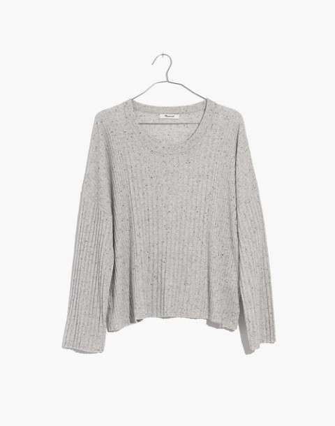 Relaxed Crewneck Sweater in donegal cloud image 4
