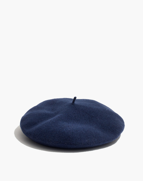 Madewell x Biltmore® Wool Beret in blue night image 1