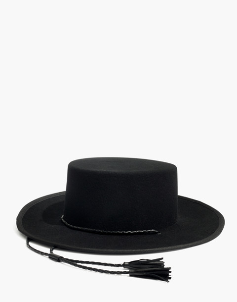 Madewell x Biltmore® Felt Stampede-Strap Hat in true black image 1