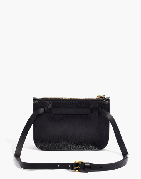 The Simple Pouch Belt Bag in true black image 3