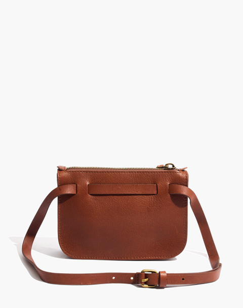 The Simple Pouch Belt Bag in english saddle image 3