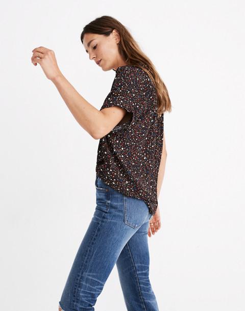 Central Drapey Shirt in Starry Night in starry dark mediterranean image 3