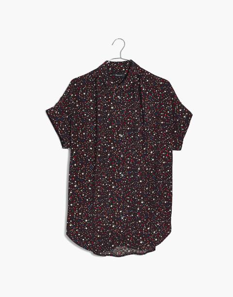 Central Drapey Shirt in Starry Night in starry dark mediterranean image 4