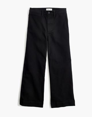 Petite Emmett Wide-Leg Crop Pants in classic black image 4