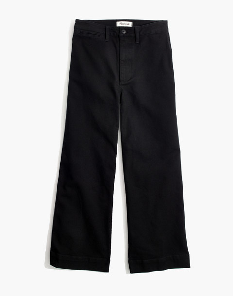 Emmett Wide-Leg Crop Pants in classic black image 4