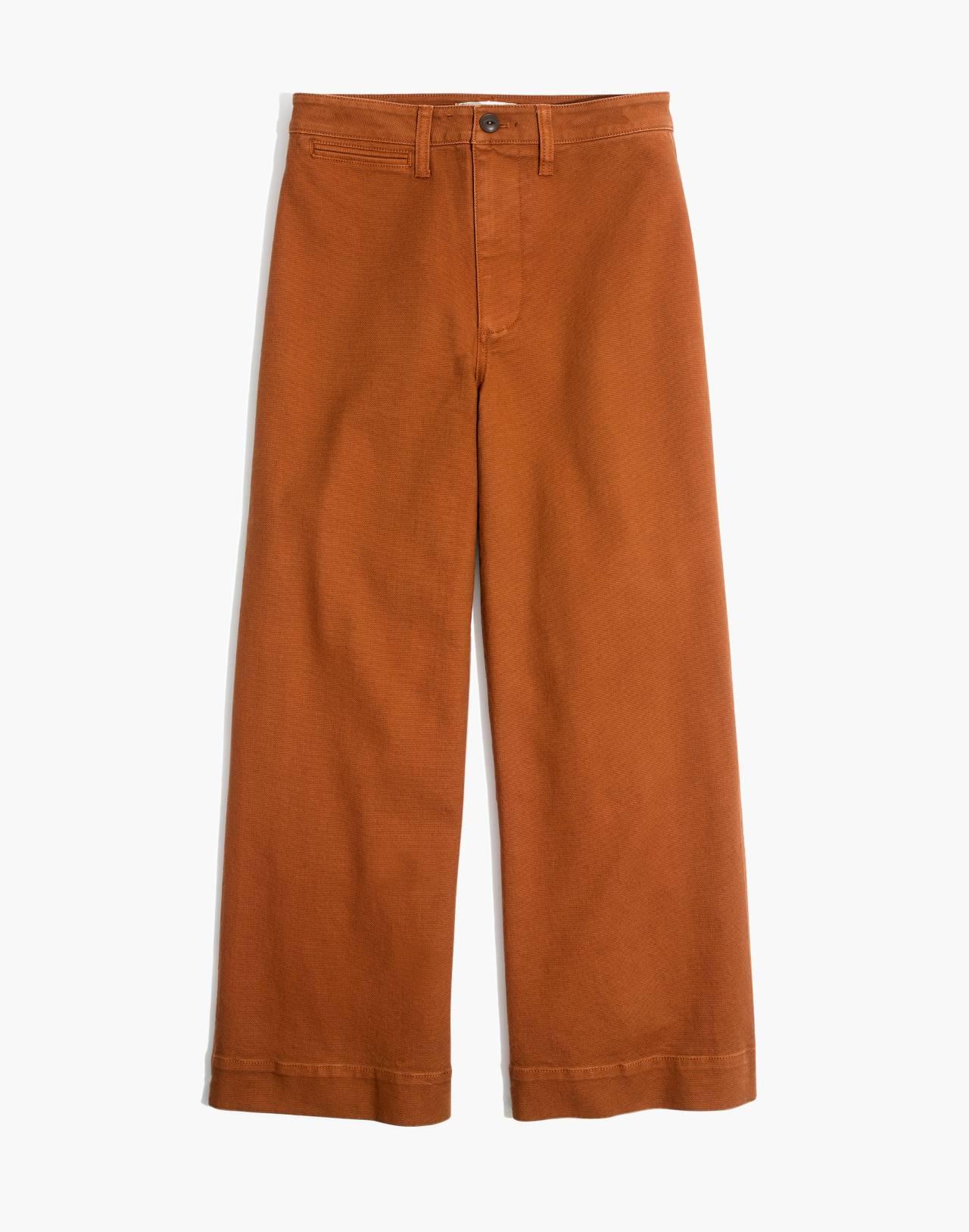Emmett Wide-Leg Crop Pants in burnt sienna image 4