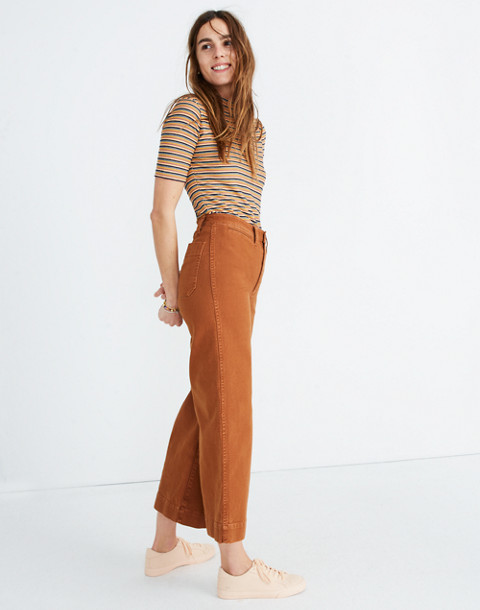 Tall Emmett Wide-Leg Crop Pants in warm coffee image 2