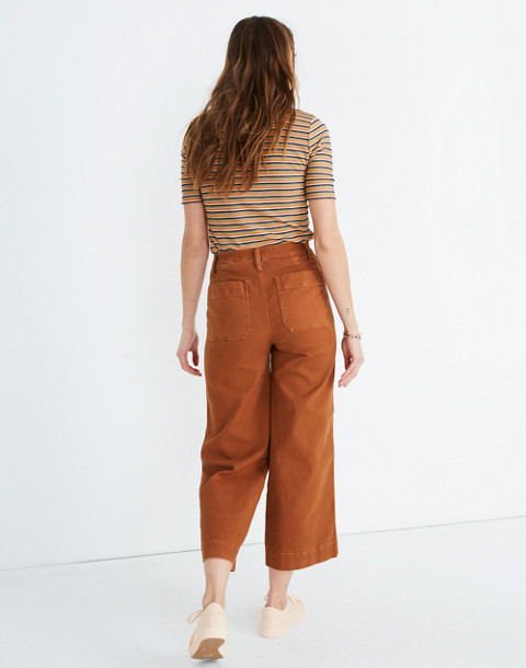 Tall Emmett Wide-Leg Crop Pants in warm coffee image 3
