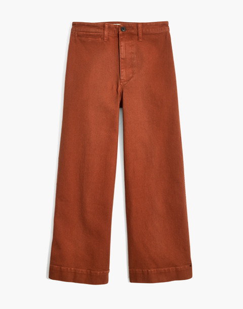 Tall Emmett Wide-Leg Crop Pants in warm coffee image 4
