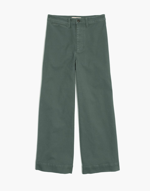 Tall Emmett Wide-Leg Crop Pants in architect green image 4