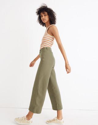 Tall Emmett Wide-Leg Crop Pants in british surplus image 2
