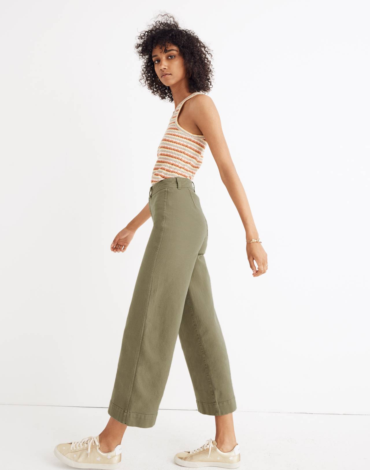 Emmett Wide-Leg Crop Pants in british surplus image 2