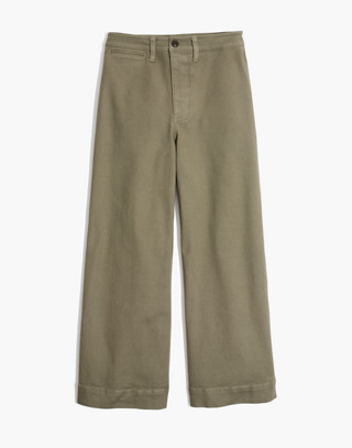 Tall Emmett Wide-Leg Crop Pants in british surplus image 4