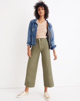 Tall Emmett Wide-Leg Crop Pants in british surplus image 1