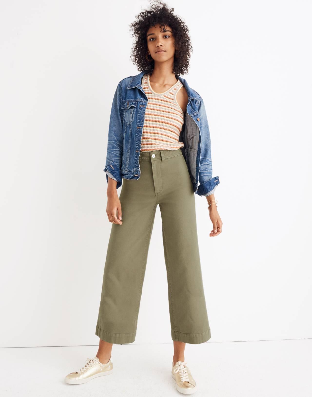 Emmett Wide-Leg Crop Pants in british surplus image 1