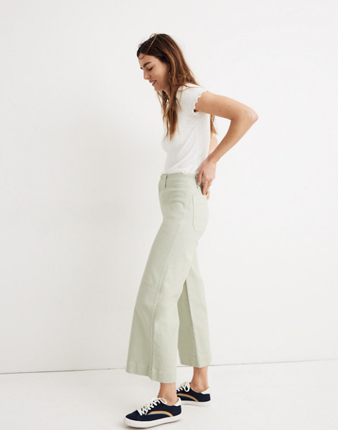 Petite Emmett Wide-Leg Crop Pants in sea haze image 2