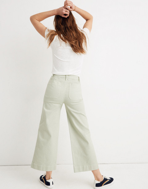 Petite Emmett Wide-Leg Crop Pants in sea haze image 3