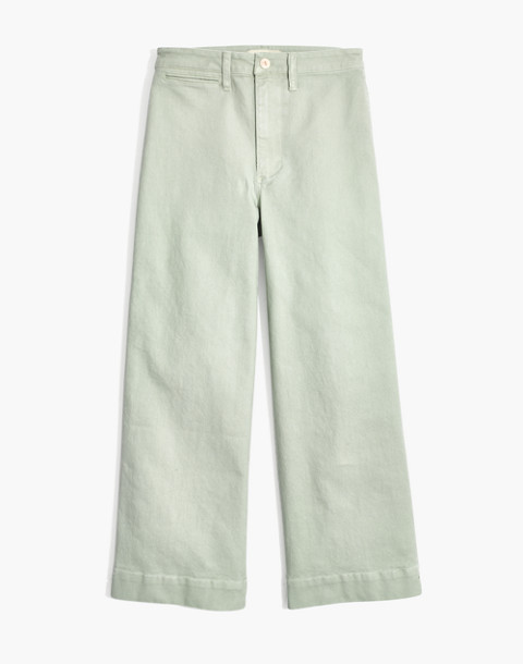 Petite Emmett Wide-Leg Crop Pants in sea haze image 4