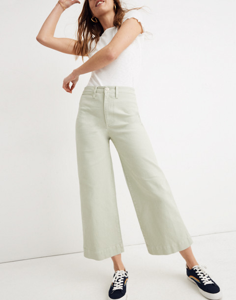 Petite Emmett Wide-Leg Crop Pants in sea haze image 1