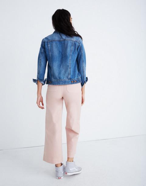 Petite Emmett Wide-Leg Crop Pants in pink oyster image 3