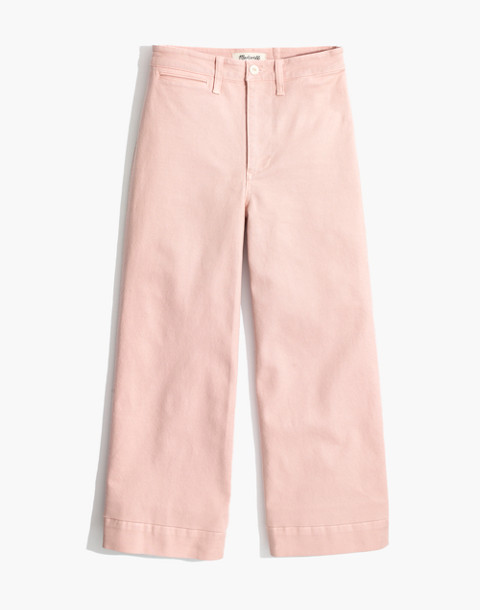 Petite Emmett Wide-Leg Crop Pants in pink oyster image 4