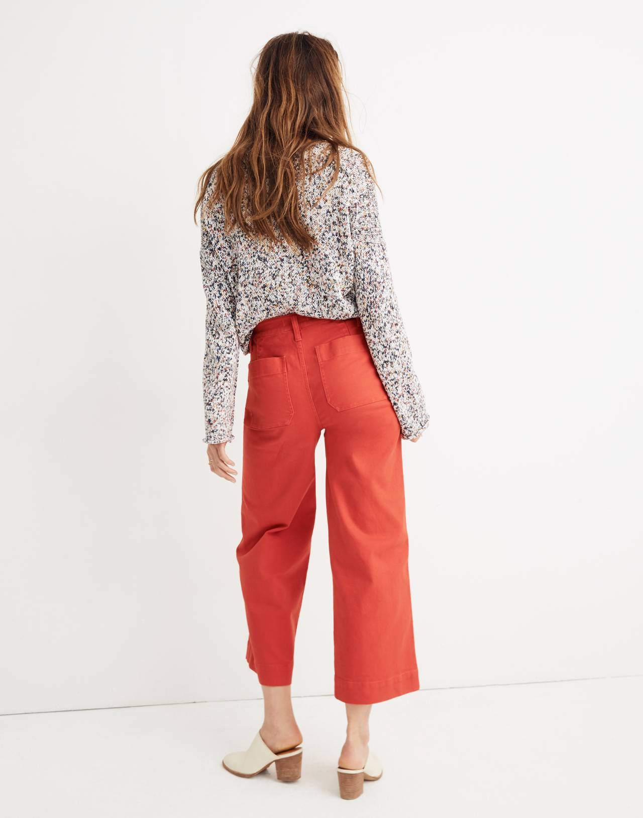 Emmett Wide-Leg Crop Pants in americana red image 3