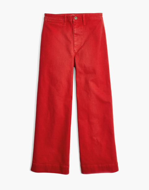 Emmett Wide-Leg Crop Pants in americana red image 4