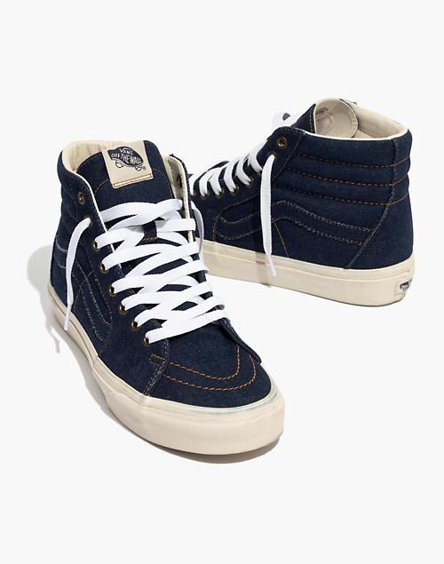 5e55ad0b74 Madewell x Vans reg  Unisex Sk8-Hi High-Top Sneakers in Dark Denim in