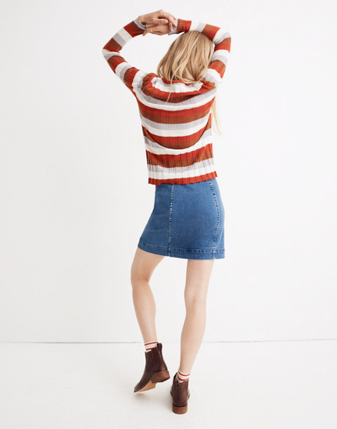 Clarkwell Pullover Sweater in Stripe in spiced cinnamon image 3