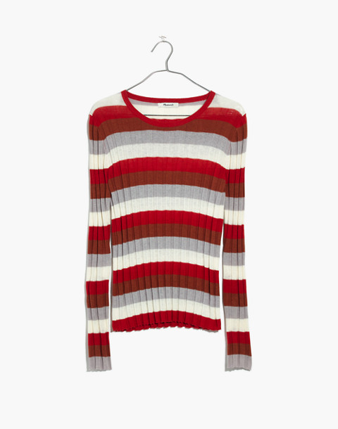 Clarkwell Pullover Sweater in Stripe in spiced cinnamon image 4