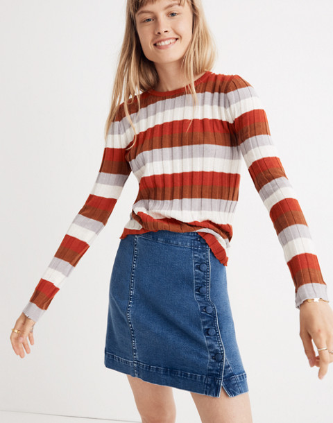 Clarkwell Pullover Sweater in Stripe in spiced cinnamon image 1
