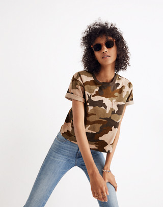 Easy Crop Tee in Cottontail Camo