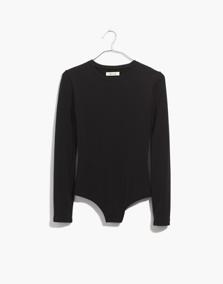 Crewneck Bodysuit in true black image 4