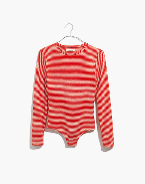 Crewneck Bodysuit in Moreno Stripe in spiced cinnamon image 4