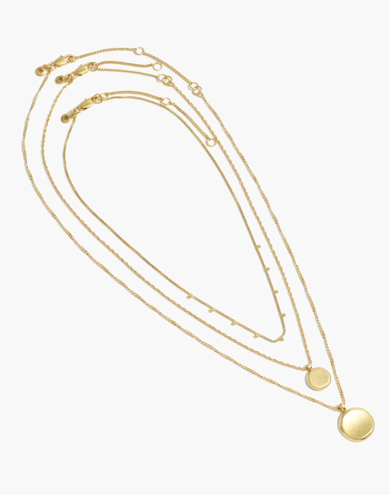 Coin Necklace Set in vintage gold image 2