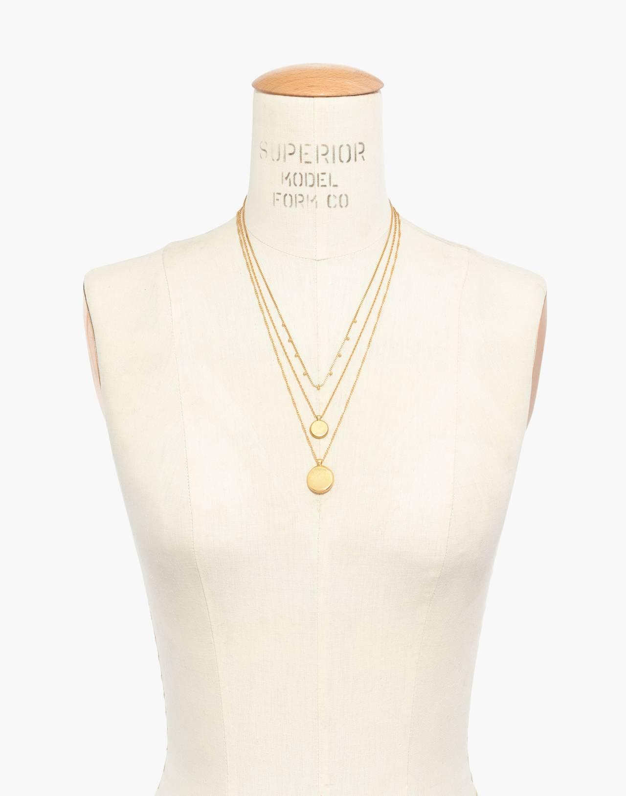Coin Necklace Set in vintage gold image 3