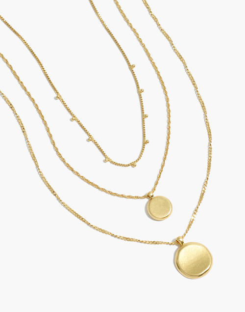 Women S Coin Necklace Set Madewell