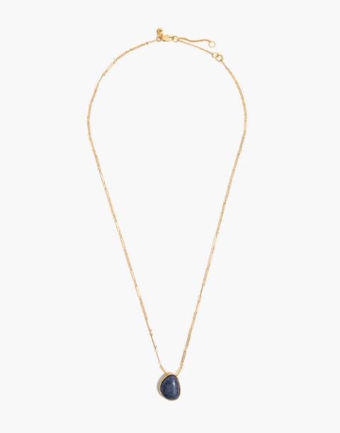 Aventurine Pendant Necklace in blue aventurine image 2