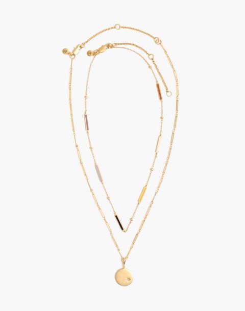 Spark Pendant Necklace Set in vintage gold image 2