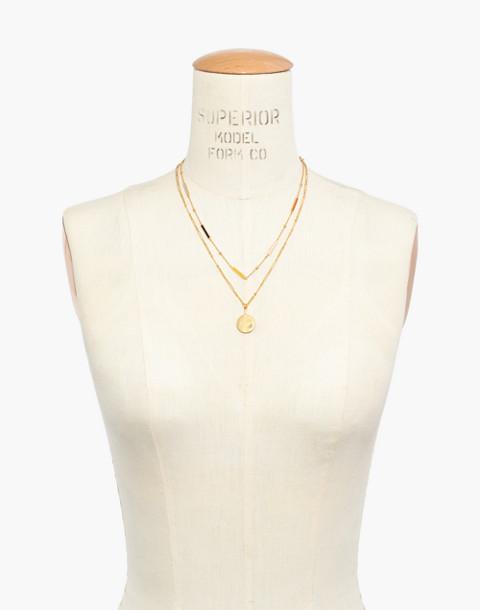 Spark Pendant Necklace Set in vintage gold image 3